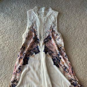Free People lace neck dress